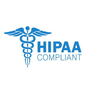 HIPAA Compliant blue logo