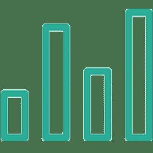 Green bar graph icon
