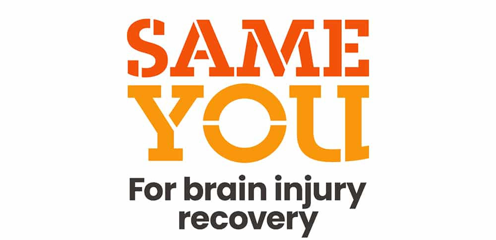 Orange and black logo that reads 'SameYou for brain injury recovery'